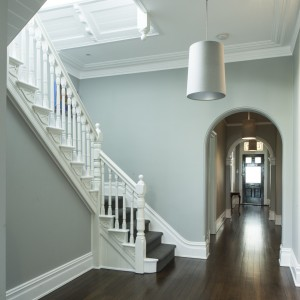 Paint colours chosen to bring out beautiful heritage features